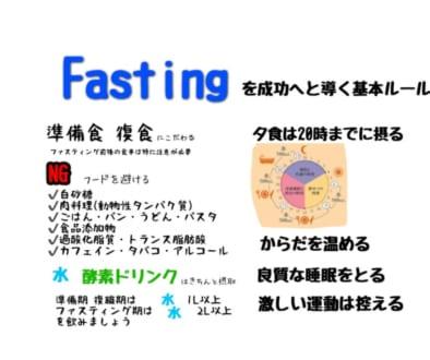 Fasting 成功するお約束事@四ツ谷 麹町 市ヶ谷 新宿 千駄ヶ谷 四ツ谷三丁目